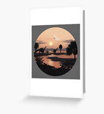 Jurassic Beach Greeting Card