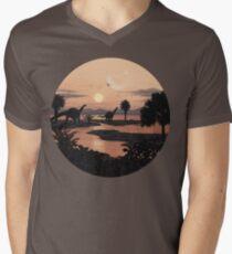 Jurassic Beach Men's V-Neck T-Shirt