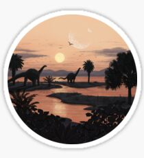 Jurassic Beach Sticker