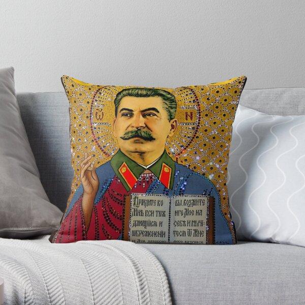 Stalin like GOD Throw Pillow