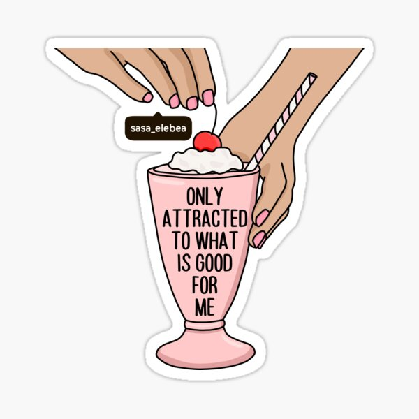 Attracted by Sasa Elebea Sticker
