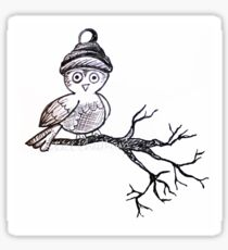 Owl Branch Sticker