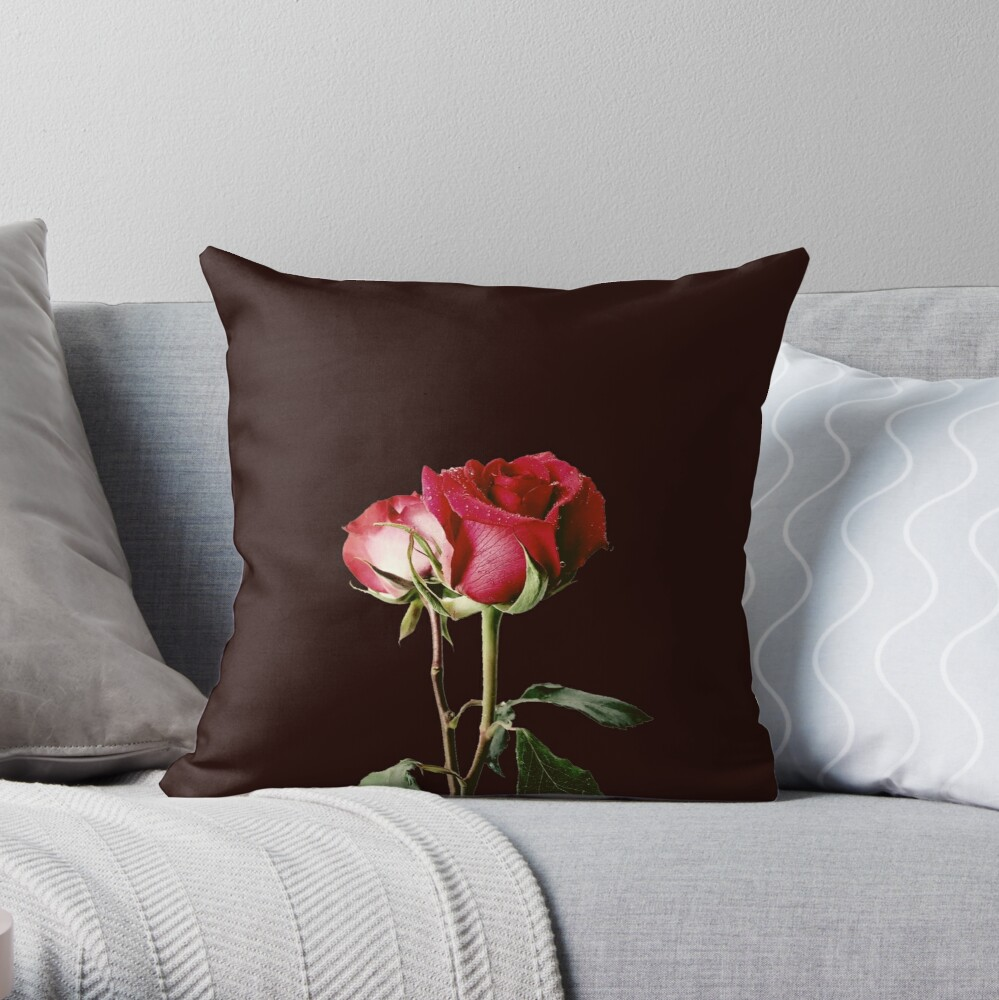 Wrongdoing Magazine Real Rose Collection Throw Pillow