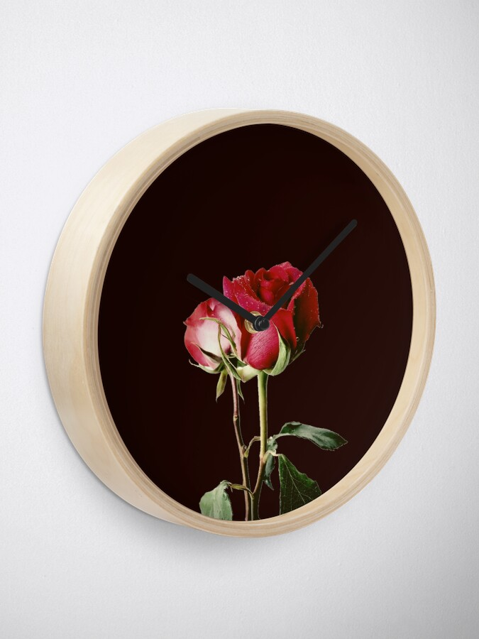 Alternate view of Wrongdoing Magazine Real Rose Collection Clock