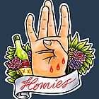 Homies West Coast Hand Sign tattoo flash by dead82