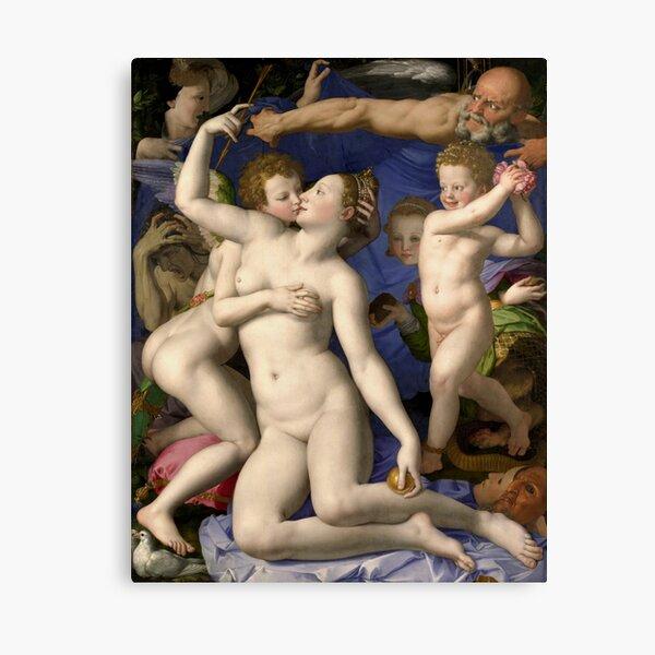 Allegory of the Triumph of Venus Bronzino Canvas Print