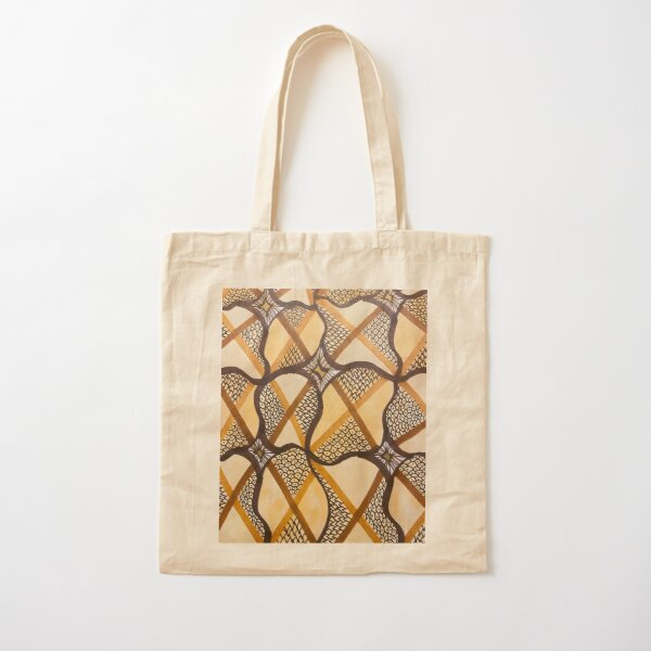 Abstract Intricate Neutral Pattern Cotton Tote Bag