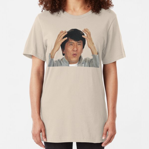 Jackie Chan Says What? Slim Fit T-Shirt