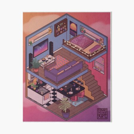 Small Apartment with Cute Kitchen Corner Art Board Print