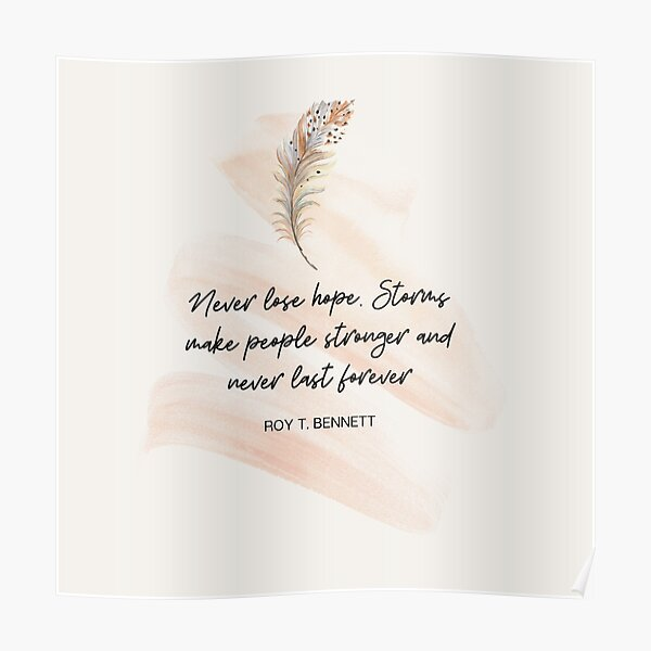 Quotes for hope Poster