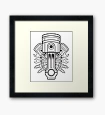 Piston lable Framed Print