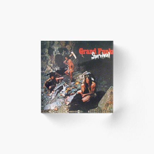 Grand Funk Railroad - Survival. Acrylic Block