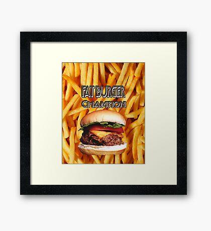 Fat Burgers Framed Print