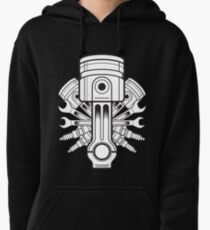 Piston lable Pullover Hoodie