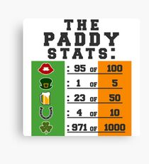 Paddy stats Canvas Print