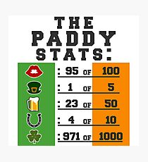 Paddy stats Photographic Print