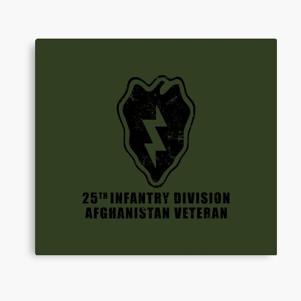 US Army 25th Infantry Division Afghanistan Veteran  Canvas Print