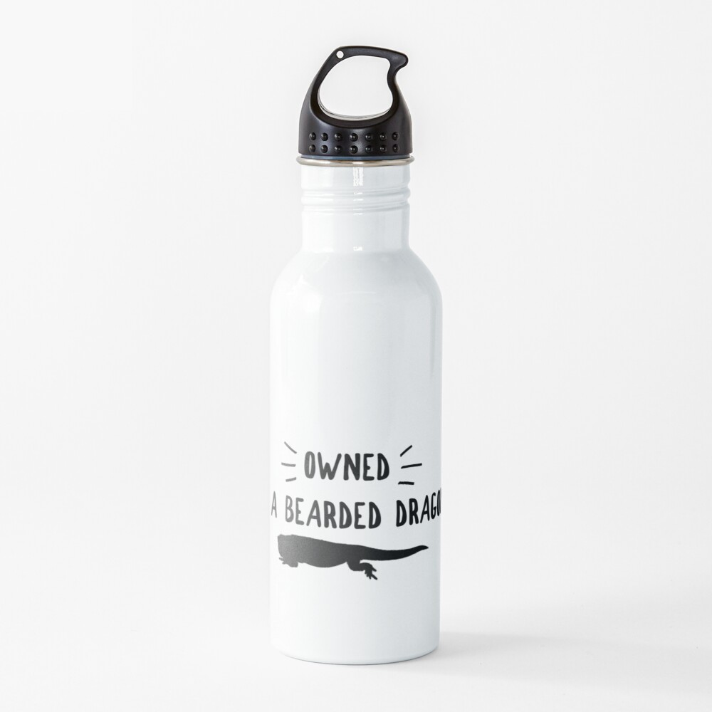 Owned By A Bearded Dragon Water Bottle