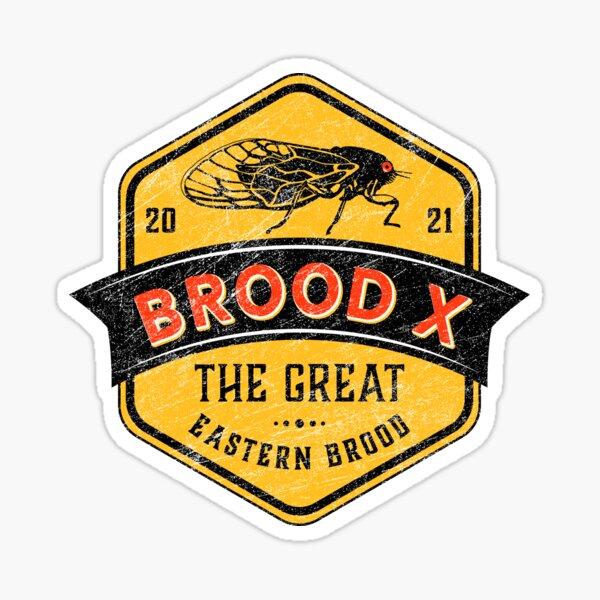 Cicadas Brood X The Great Eastern Brood Sticker