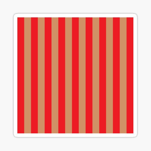 Large red vertical stripes on a flesh-colored background Sticker