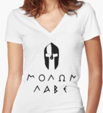 spartans-molon labe Women's Fitted V-Neck T-Shirt