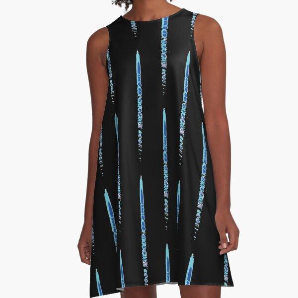 Pattern that evokes a rainy day A-Line Dress