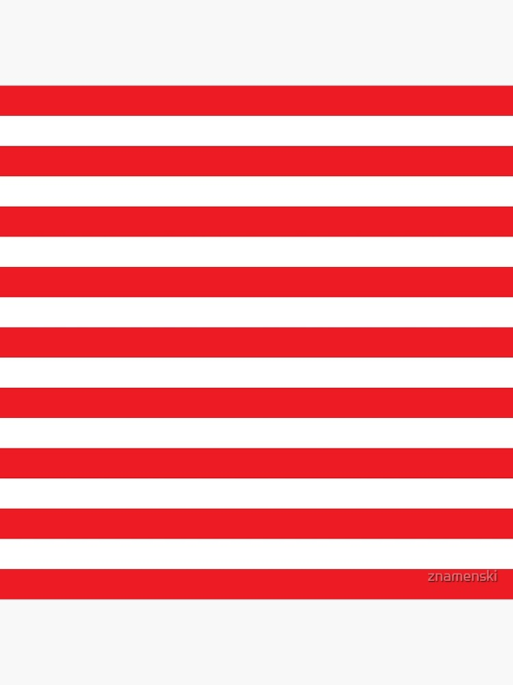 Red and White Stripes. Large red horizontal stripes on a transparent background by znamenski