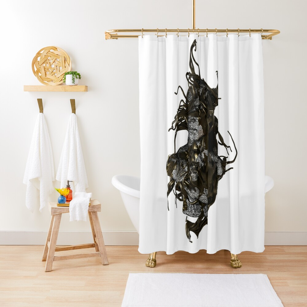 WINDY LOOK Shower Curtain