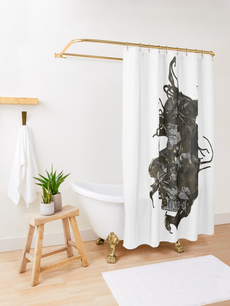 Alternate view of WINDY LOOK Shower Curtain