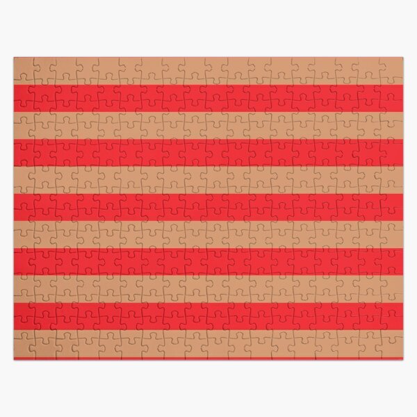 Large red horizontal stripes on a flesh-colored background Jigsaw Puzzle