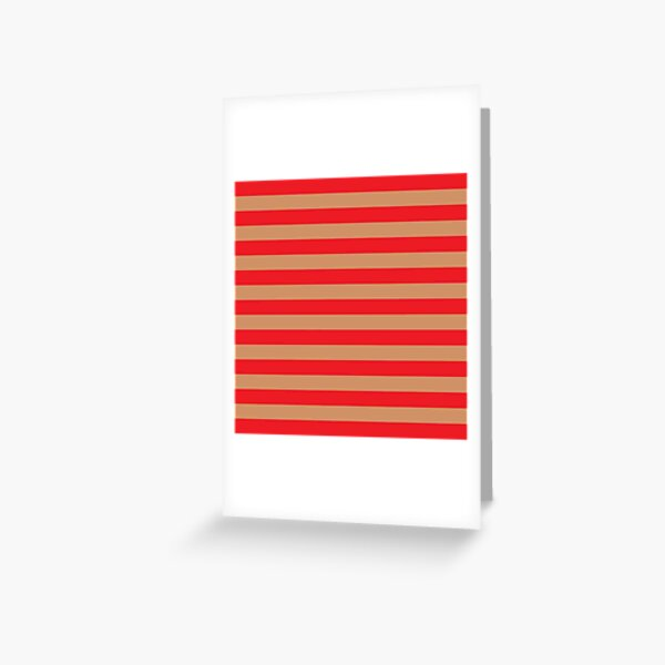 Large red horizontal stripes on a flesh-colored background Greeting Card