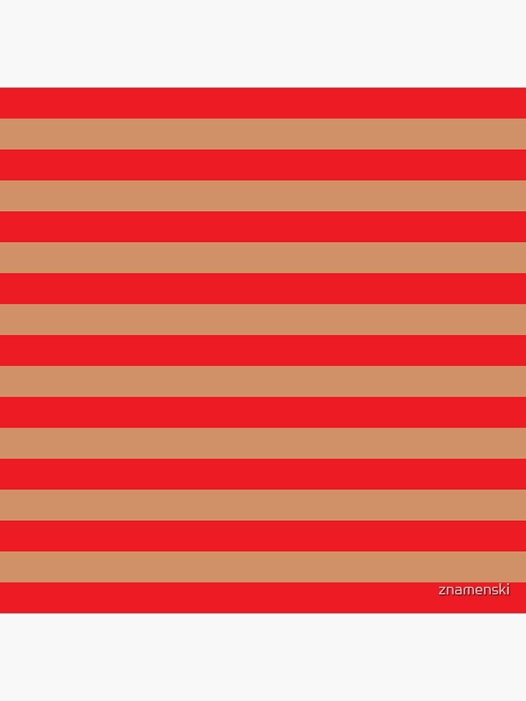 Large red horizontal stripes on a flesh-colored background by znamenski
