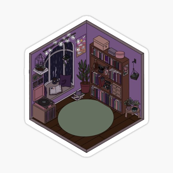 Cozy Isomertic Reading Space Sticker