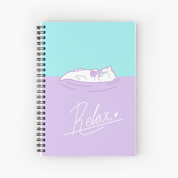 Ube and Taro - Relax Spiral Notebook