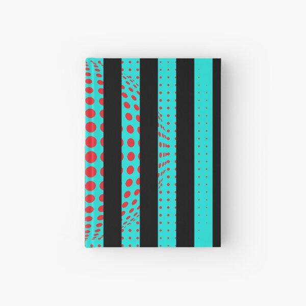 Blue and Black Stripes. Large Blue vertical stripes on a black background Hardcover Journal