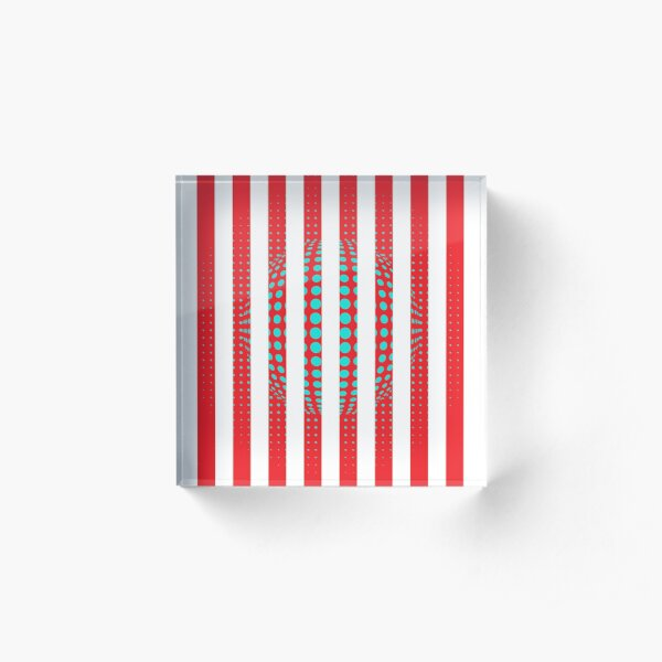 Blue and Black Stripes. Large Blue vertical stripes on a black background Acrylic Block