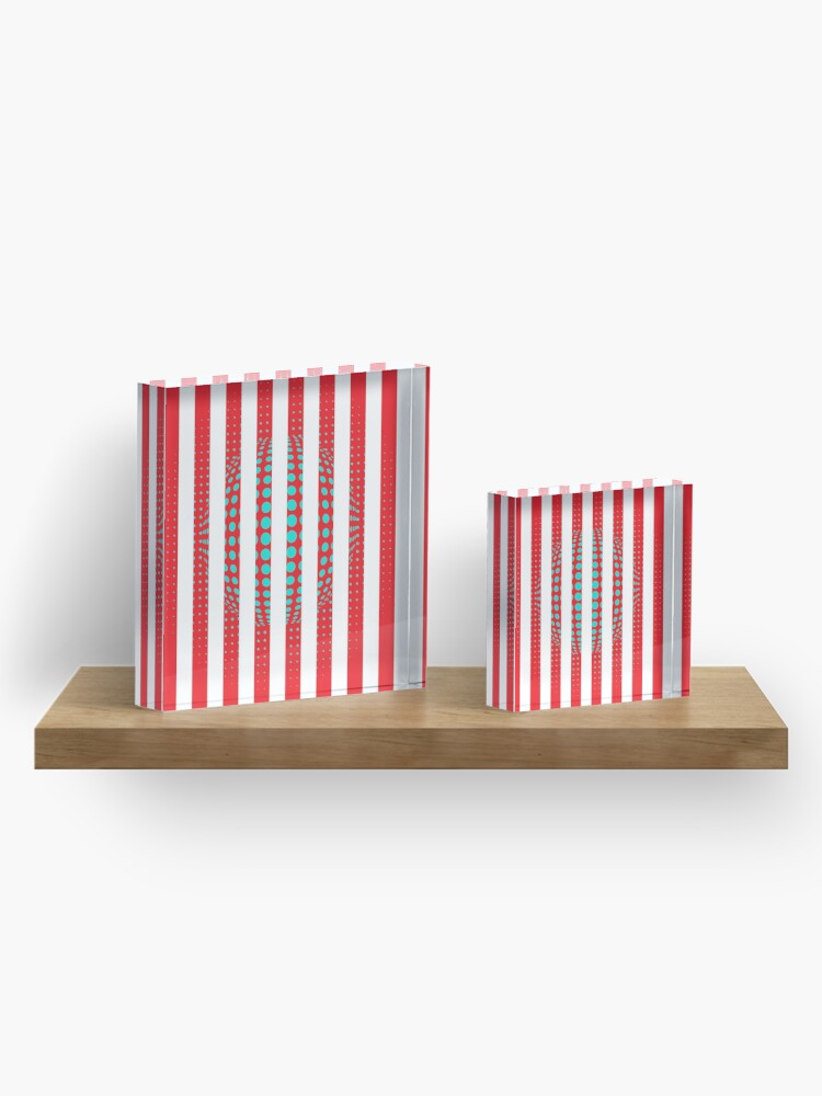 Alternate view of Blue and Black Stripes. Large Blue vertical stripes on a black background Acrylic Block