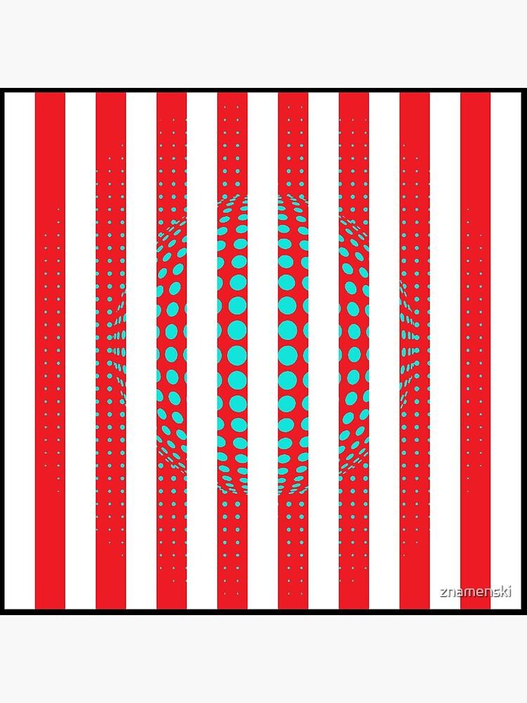 Blue and Black Stripes. Large Blue vertical stripes on a black background by znamenski