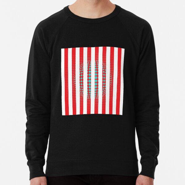 Blue and Black Stripes. Large Blue vertical stripes on a black background Lightweight Sweatshirt