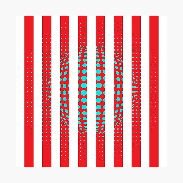 Blue and Black Stripes. Large Blue vertical stripes on a black background Photographic Print