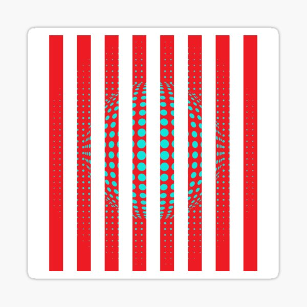 Blue and Black Stripes. Large Blue vertical stripes on a black background Sticker