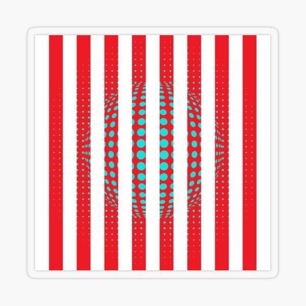 Blue and Black Stripes. Large Blue vertical stripes on a black background Transparent Sticker