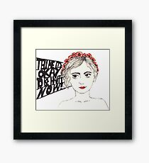 Paramore Tell Me It's Okay Framed Print