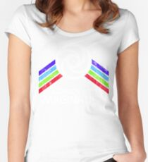 Journey Into Imagination Distressed Logo in Vintage Retro Style Women's Fitted Scoop T-Shirt