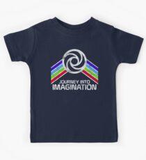 Reise in die Phantasie Distressed Logo im Vintage-Retro-Stil Kinder T-Shirt
