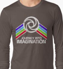 Journey Into Imagination Distressed Logo in Vintage Retro Style T-Shirt