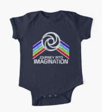 Journey Into Imagination Distressed Logo in Vintage Retro Style One Piece - Short Sleeve