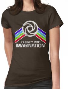 Journey Into Imagination Distressed Logo in Vintage Retro Style Womens Fitted T-Shirt