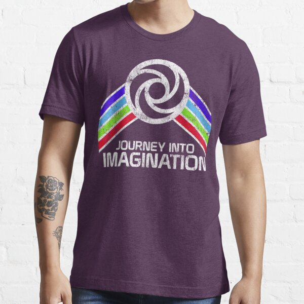 Journey Into Imagination Distressed Logo in Vintage Retro Style Essential T-Shirt