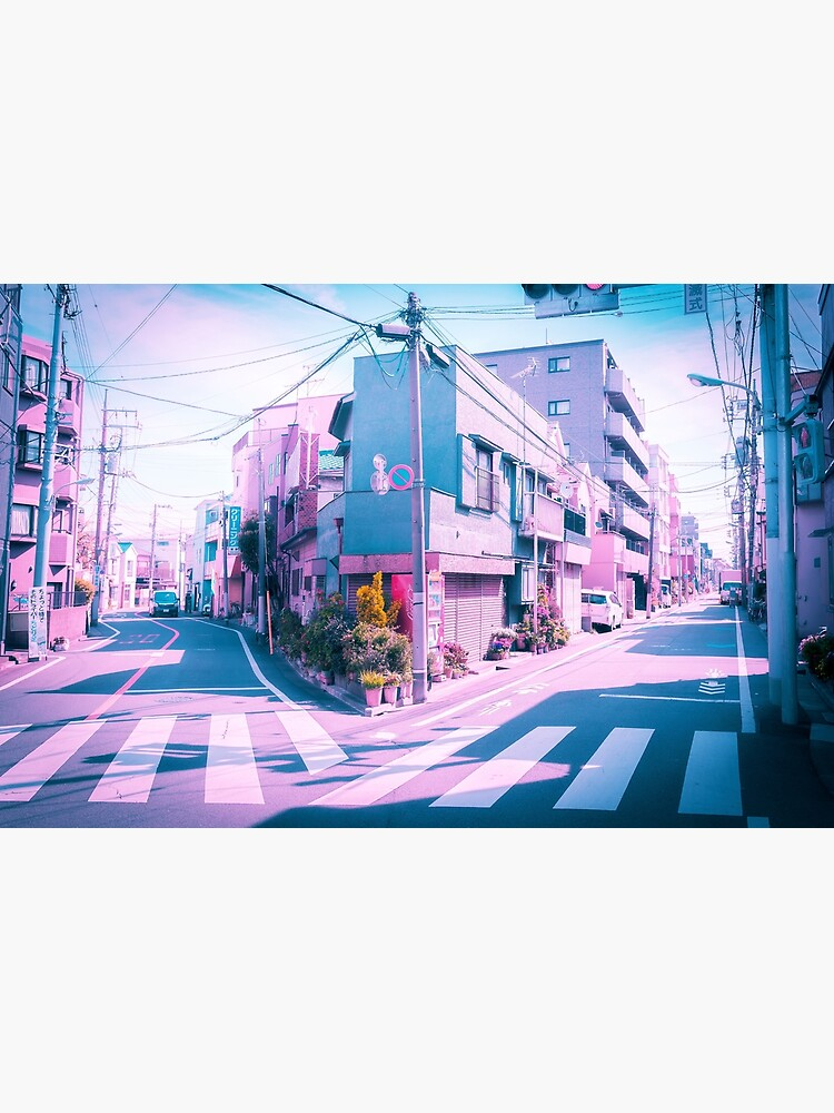 Anime in Real Life Vaporwave Summer Day in Tokyo Residential area  by TokyoLuv